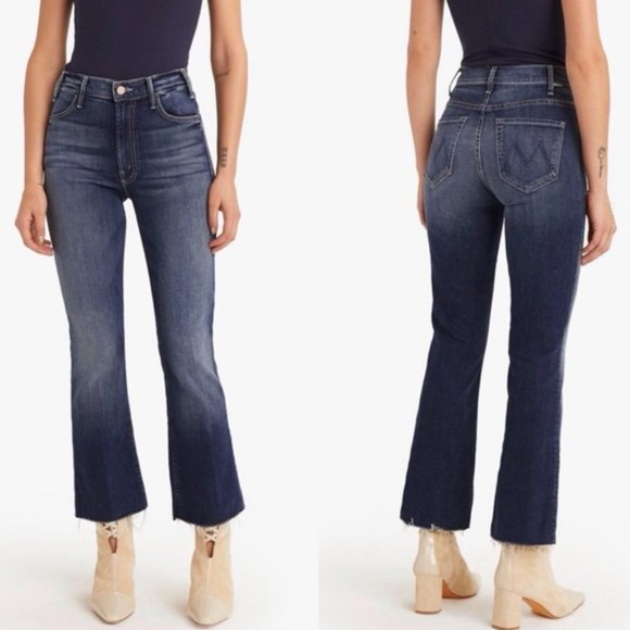 MOTHER The Hustler Ankle Fray Jeans On The Edge U7